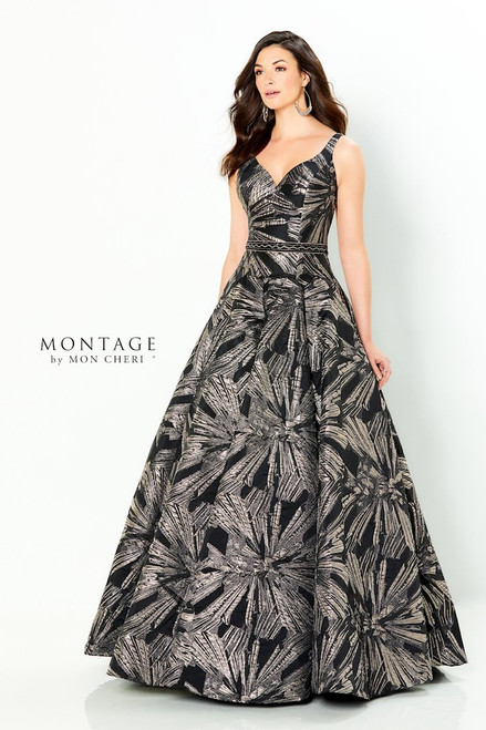 Montage by Mon Cheri 220953 Sleeveless Brocade Ball Gown