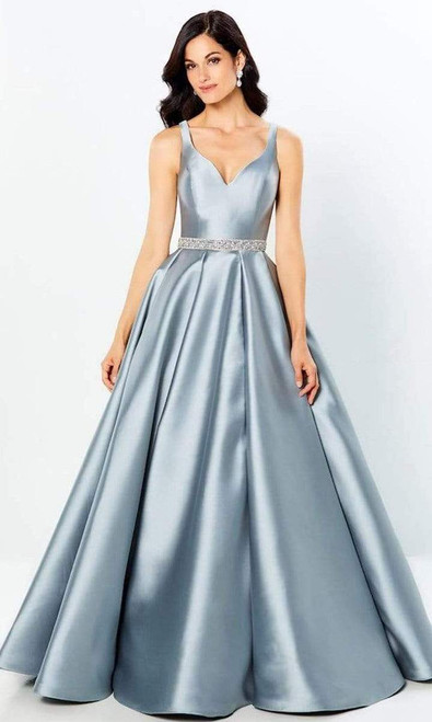 Montage by Mon Cheri 220954 Sleeveless Low V-Neck Long Gown