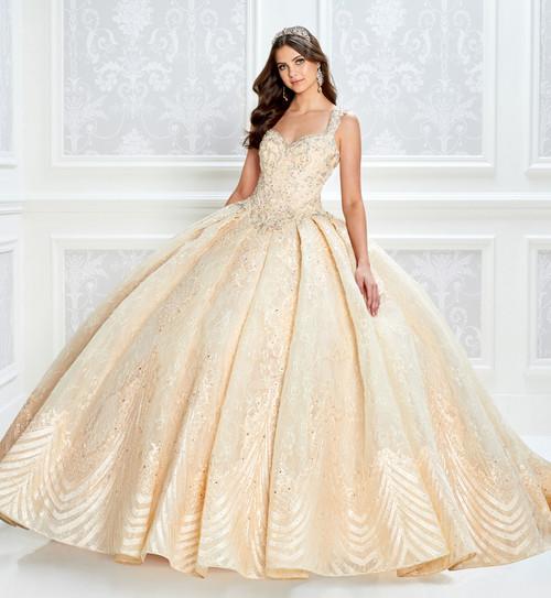 Princesa by Ariana Vara PR22033 Sleeveless Beaded Ballgown
