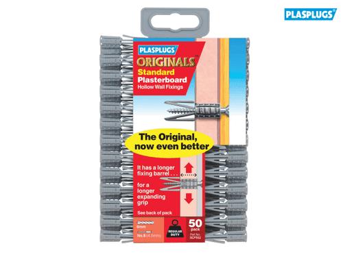 Pack 50 Plasplugs PLASGP550 SGP550 Originals™ General-Purpose Fixings