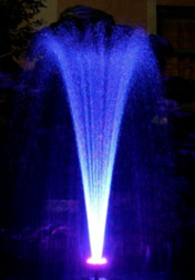 Custom Pro 1100 GPH Floating Water Fountain with White LED Lights