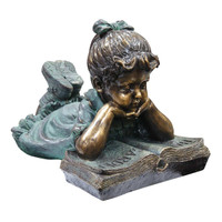Alpine GXT268 Girl Laying Down Reading Statue