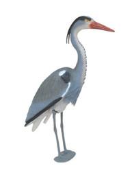 Blue Heron Decoy w/ Legs- decorative predator deterrent