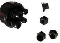 3-Way Water Valve -controls flow to multiple fountains