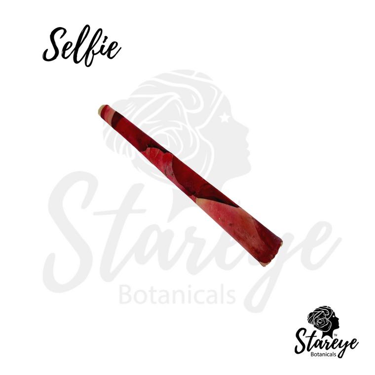 Stareye Botanicals' Royal Love Selfie | Rose wrapped hemp pre-roll  —rose blunt
