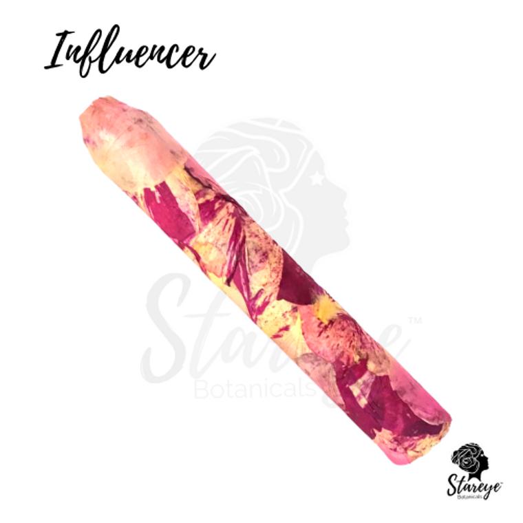 Influencer Royal Love Hemp Cigar from Stareye Botanicals. Celebrate  with rose wrapped herbal cigars filled with premium smokable hemp and botanicals. Herbal Cigar.