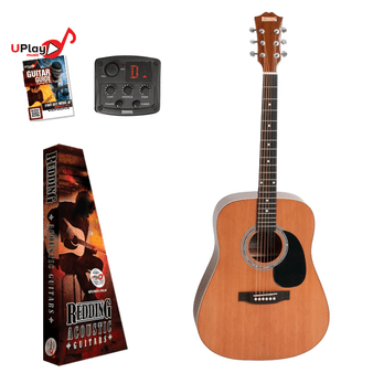 REDDING   Dreadnought Cedar top  electric/acoustic Guitar