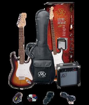 ESSEX  Beginners ST Style Electric Guitar & Amp Pack  3 Tone Sunburst