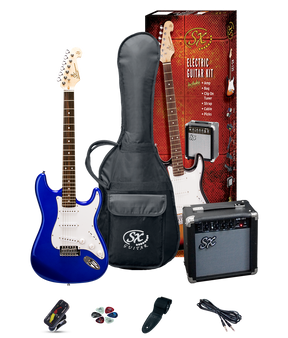 ESSEX  Beginners ST Style Electric Guitar & Amp Pack  Electric Blue