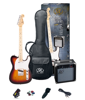 ESSEX  Beginners TL Style Electric Guitar & Amp Pack  3 Tone Sunburst
