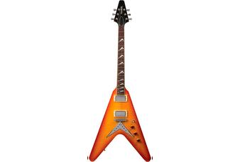 Hamer Vector Flame Top Flying V Style Electric Guitar