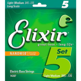 Elixir Bass Nano 5 String Light Medium 45 135
