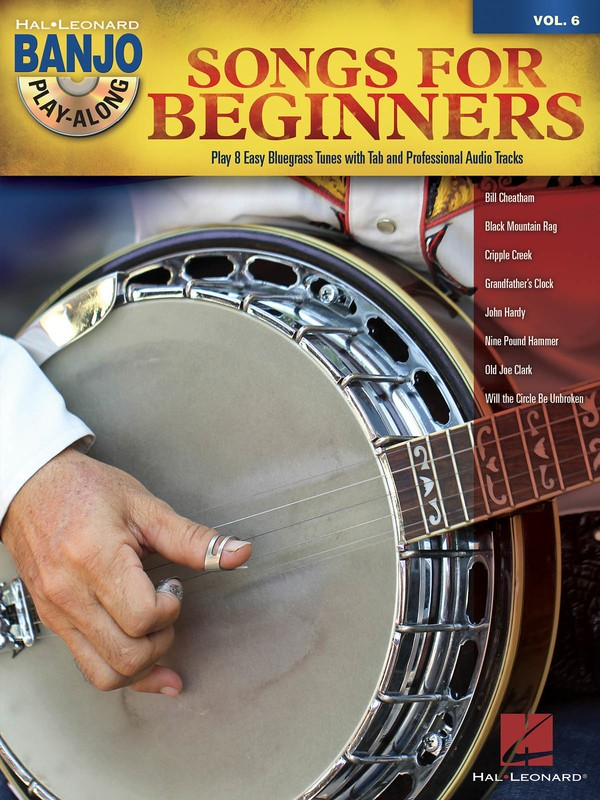 SONGS FOR BEGINNERS BANJO PLAY ALONG V6 BK/CD SHEET MUSIC BOOK