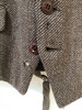 "Brown tweed waistcoat by Charles Fox, 42"" short (VTR596J)"
