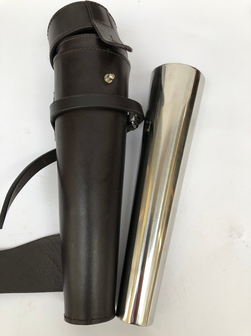 New Stainless Steel Hunting Flask & Leather Case