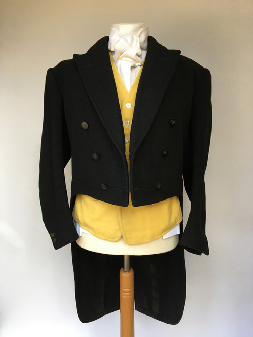 "1957 Bernard Weatherill Black Heavyweight Tailcoat, 40"" (broad shoulders)"