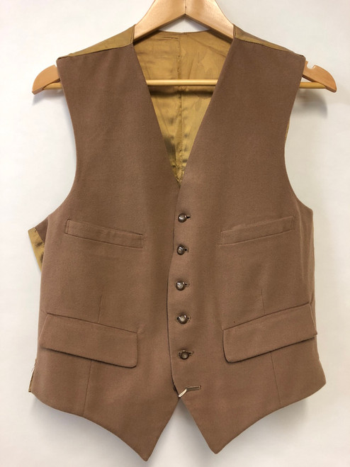 Waistcoat in light brown/taupe, 40""
