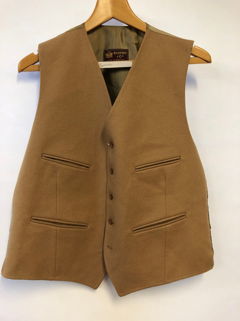 "Camel-coloured waistcoat by Dunn & Co. 42"" (VTR510)"