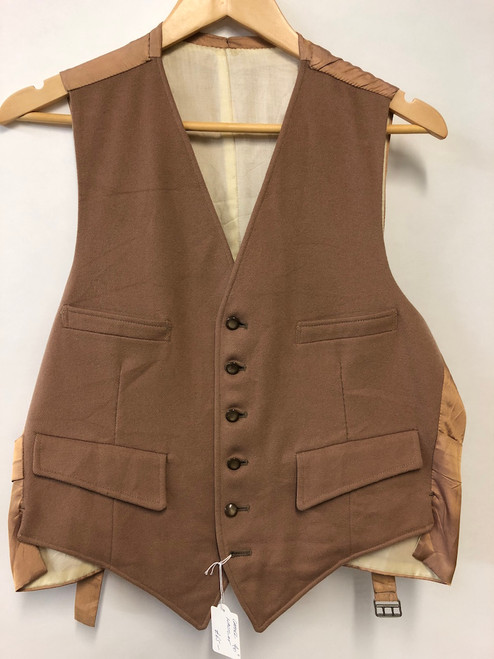 "Camel-coloured wool waistcoat, 40"" (VTR527)"