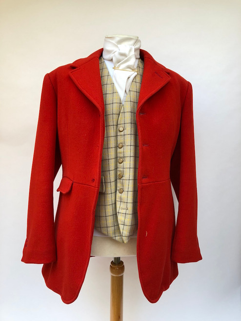 "Red hunting frock coat by Weatherill, 38"" short (VTR602)"