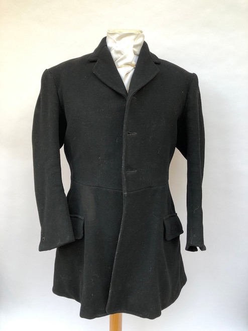 "Bespoke black hunting frock coat, 38"" (VTR637)"