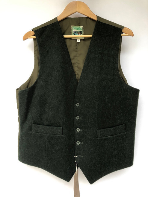 "Green waistcoat by Hoggs, 42"" (VTR663)"