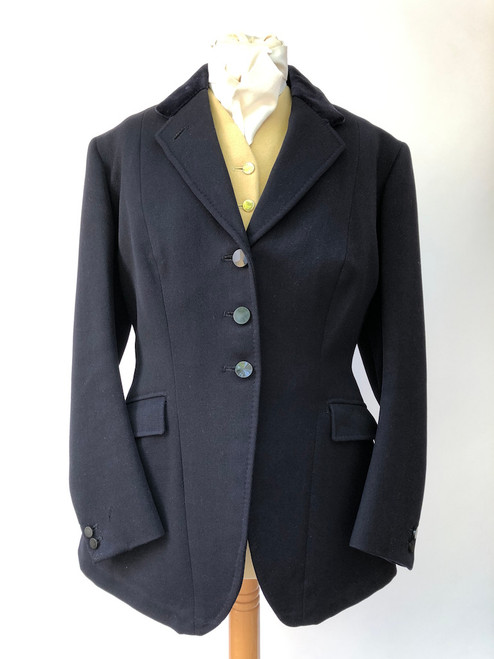 "Beautiful, 1961 navy coat by Bernard Weatherill, 36"" (VTR760)"