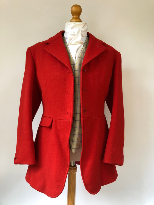 Bernard Weatherill red hunting frock coat, 38""