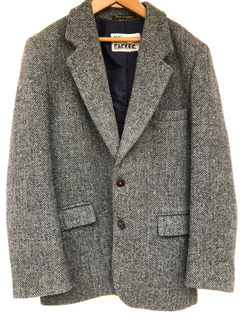 "Boy's navy blue Harris Tweed coat, 32"" junior (VTR902)"