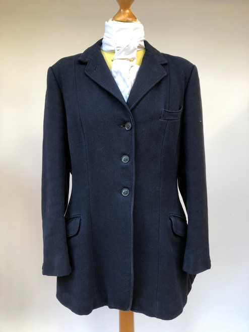 "Ladies' navy hunting coat by W.H. Giddens, 38"" (VTR905)"