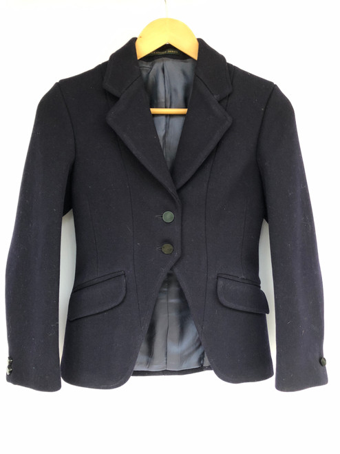 """Immaculate child's cutaway navy coat, 28-30"""" (VTR845)"""