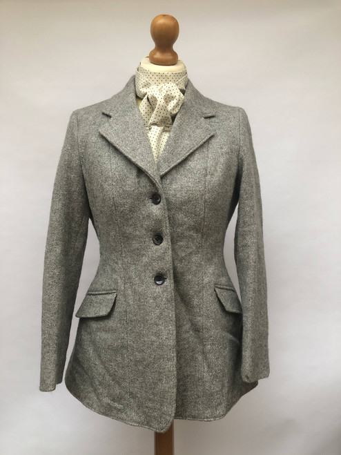 Vintage grey wool tweed by Saddlemaster, 34""
