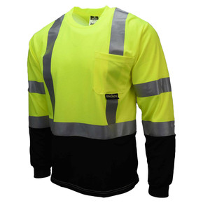 Radians ST21B Type R Class 3 Long Sleeve Safety Shirt - Lime