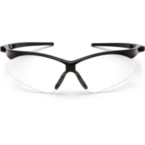 Pyramex Safety, PMXTREME Readers Safety Glasses - Black Frame - Clear Bifocal Lens