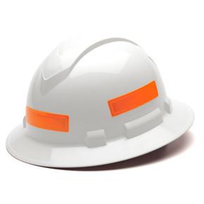 HVRS Reflective Hard Hat Stickers - Orange