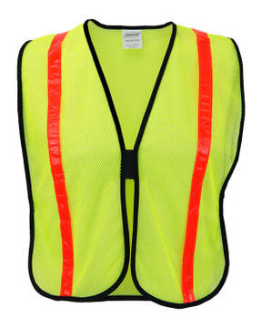 Ironwear Safety Vest, 1216 Non ANSI Polyester Lime Mesh Front View
