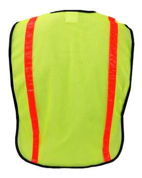 Ironwear Safety Vest, 1216 Non ANSI Polyester Lime Mesh Back View