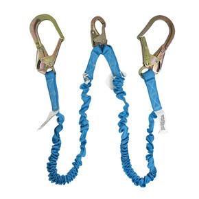 Ironwear Safety, 2340 Dual Leg Energy Absorbing Lanyard with Steel Rebar Hooks