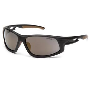 Carhartt - Ironside - Safety Eyewear - Black and Tan Frame/Antique Mirror Anti-Fog Lens – Each