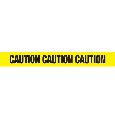 Ironwear Safety, Yellow Barrier Tape, 2.5 Mil, 1000 Feet per Roll, Printed: Caution