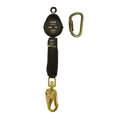 Ironwear Safety, 6' SRL, Single External Shock Absorbing with Snap Hook or Rebar Hook
