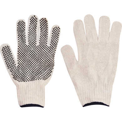 Ironwear Safety, String Knit Gloves, Blend PVC Dotted
