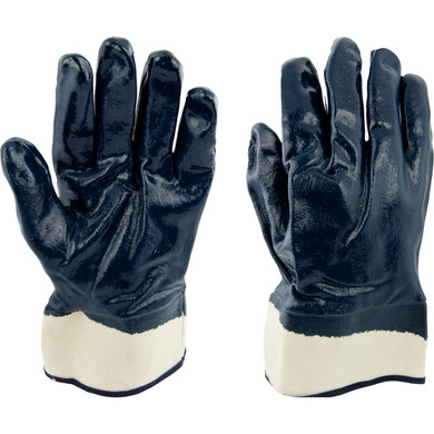 Ironwear Safety, 4540 Nitrile Fully Dipped Gloves , Safety Cuff  Fleece Jersey Liner