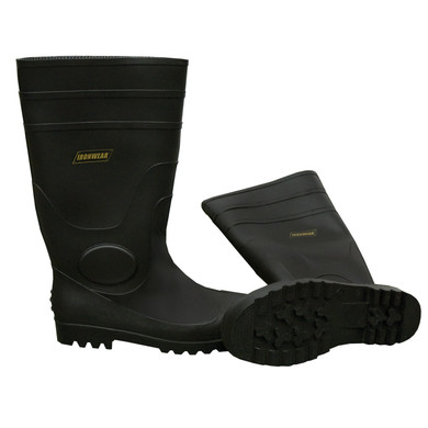 """Ironwear Safety, Steel Toe, 16"""" PVC Boots with Cushioned Insole"""