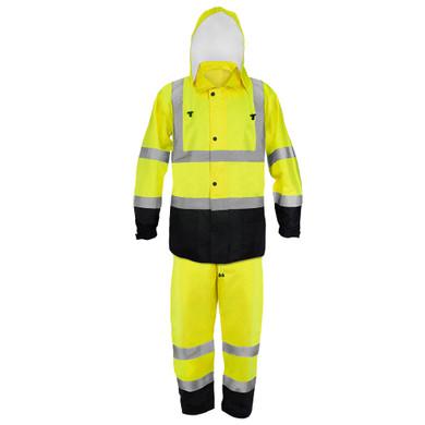 Ironwear Safety, 9510L- Premium Class 3 Jacket and Pants Rainwear Combo