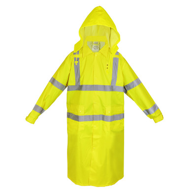 Ironwear Safety, 9520-Premium Class 3 Coat with Tuckaway Hood
