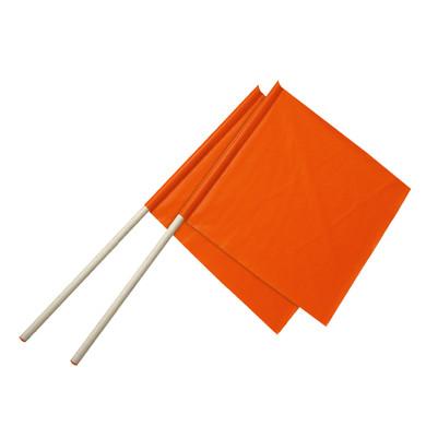 "Ironwear Safety, Flag Fluorescent Orange Reinforced 24"" X 24"" PVC Fabric"