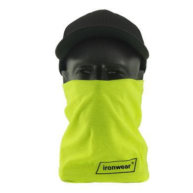 Ironwear Safety, Lime Neck Protector, High Visibility , 100% Polyester
