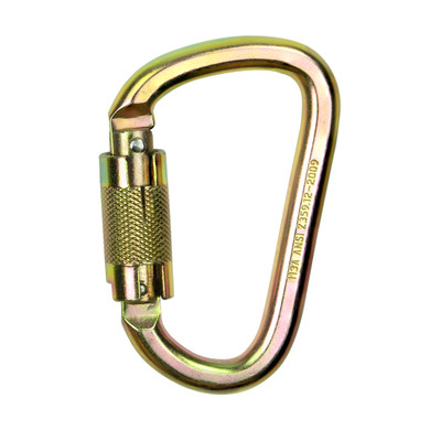 Carabiner with a Gate Strength of 3600 and Minimum Breakage Strength of 9,000 lbs Meets ANSI Z359.12-2009 – Each