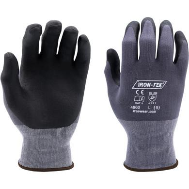 Iron-Tek Series Gloves #4860, Foam Nitrile Coating, Offers Excellent Grip in Wet Conditions, EN388 4131-Dozen